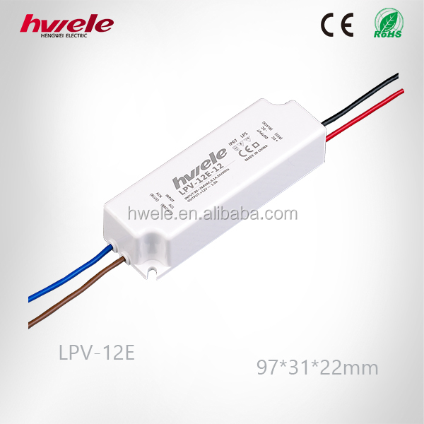 LPV-12E LED constant voltage waterproof switching power supply with SGS,CE,ROHS,TUV,KC,CCC certification