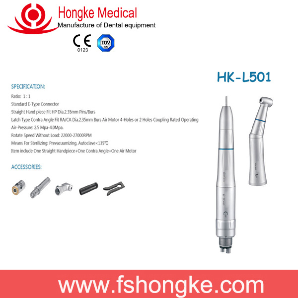 CE dental low speed dental handpiece / straight handpiece / contra angle