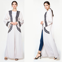 Hot selling Middle Abaya Women arabic muslim dress embroiered dubai abaya