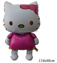 Big Hello kitty Foil balloon/ Kitty Mylar balloon/ Walking foil balloon