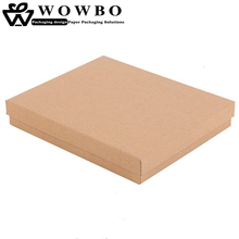 30*30*5cm brown kraft paper baby shower gift packaging box with lid