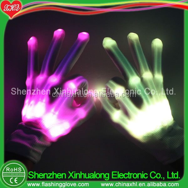 Factory provide remote controlled led gloves with remote control has many kinds of colors Manufacturer Factory