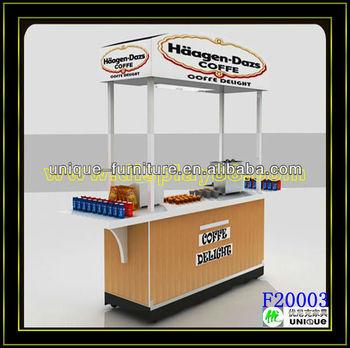 2 made in china 3d design indoor food cart for donut for Indoor food kiosk design
