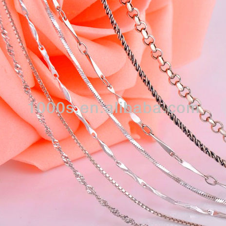2013 Silver Chain Necklace Jewelry Wholesale