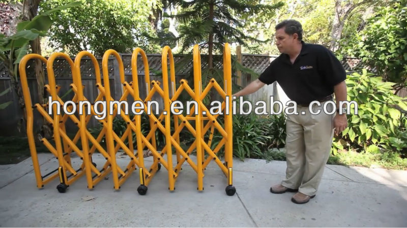 Expandable Aluminium Manual Road Security Temporary Fence For Crowd Control