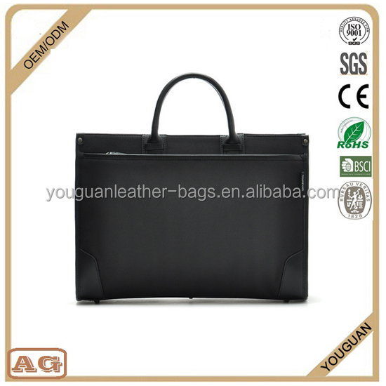 2016 hot sale personalized durable polyester material conference bag unisex used computer briefcase