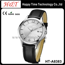 White Face Quartz Movt Leather Lovers Watch