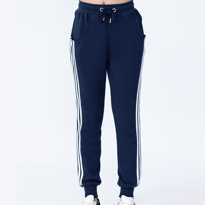 Good quality blue breathable cheap classic women jogger pants