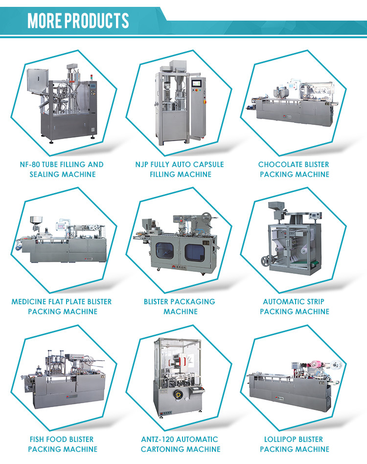 China Manufacturer High Efficiency Fish Food Blister Card Packing Machine