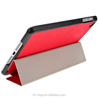 2015 Magnetic Ultra Thin red Smart Cover + Back Case For New iPad mini With Sleep Wake