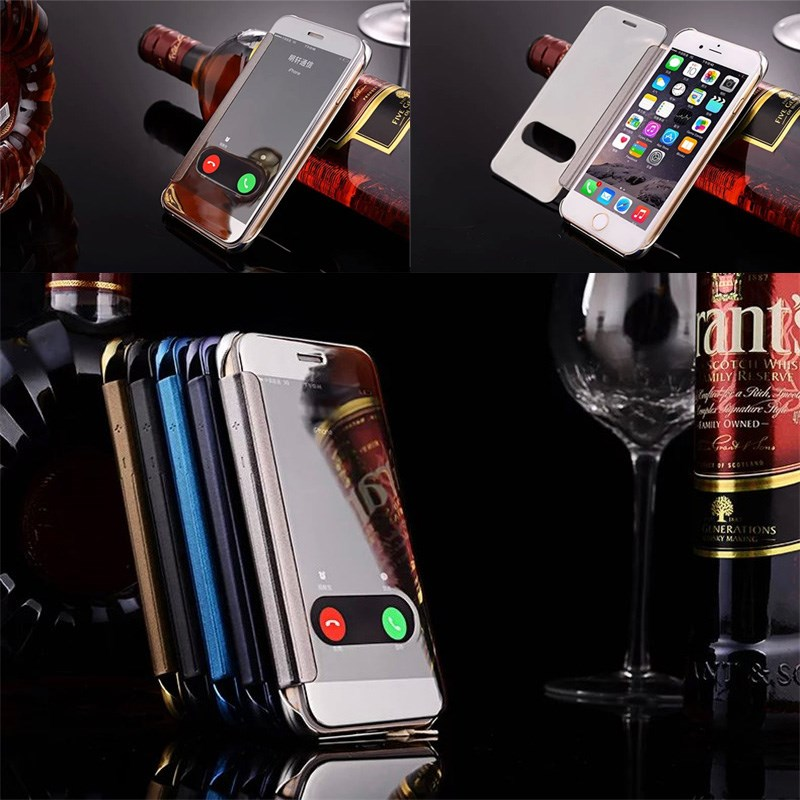 3D Mirror Smart View Clear Flip Phone Case Cover For iPhone 6/6S,Flip Phone case for iphone 6s