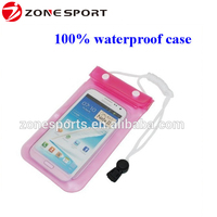 2016 high quality hot selling waterproof cell phone bag,pvc waterproof case for samsung,iphone etc