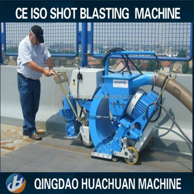 600mm Portable moving floor sand blasting machine/shot blaster for concrete road or steel deck