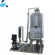 Small scale single tank carbonated soft drink CO2 mixing machine