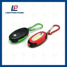 promotional led plastic keychain work light with key ring