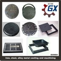 Cast iron/Ductile iron 850X850 C250 Square and round manhole cover