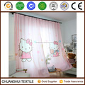 100% polyester hello kitty printed curtain for Pretty Princess Bedroom