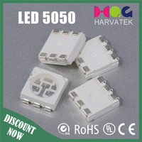 Ultra bright 5.0x5.4x1.6mm 3 chips 30mA 5050 blue smd led
