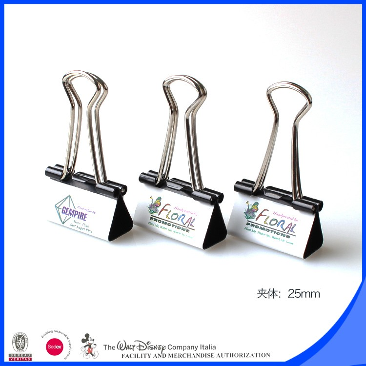 More color printed 32mm office clamps binder clip