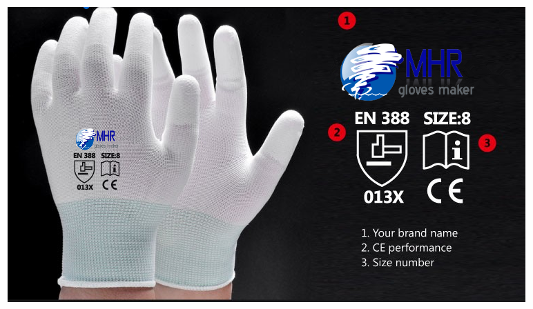 EN388 4131 nylon-carbon knitted liner anti-static ESD gloves good quality/safety wrok gloves/PU GLOVE