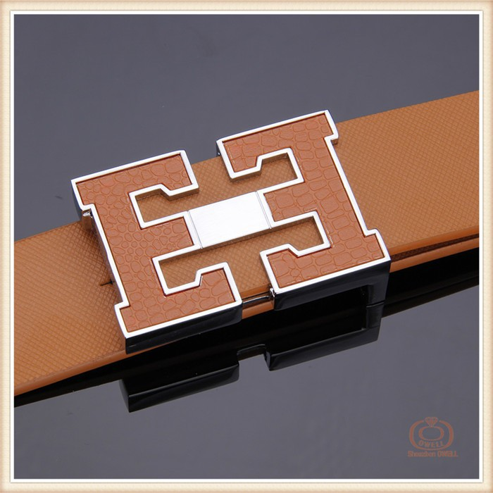 reversible stainless steel alloy buckles smooth black belt mens leather belt brown