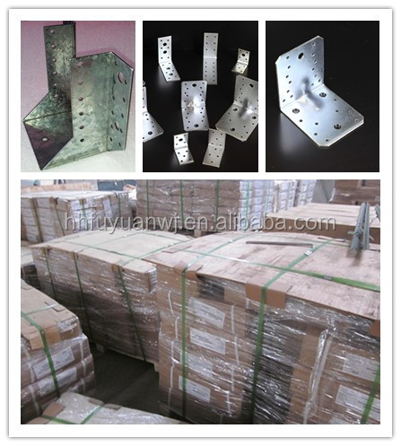 galvanized Reinforced angle bracket wooden connector