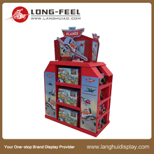 Long Feel pop paper cake display 5 layer cardboard display stand for cake