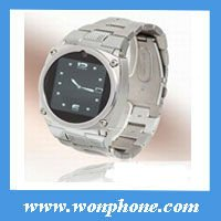 2012 New Watch Cell Phone TW818 with stainless Steel