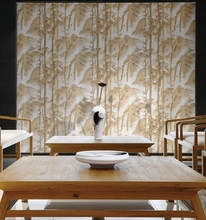 3D effect Bamboo pattern high resolution wallpaper on sale