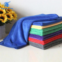 micro fiber towel car microfiber car wash towel with different colors towel fluffy plush made in China