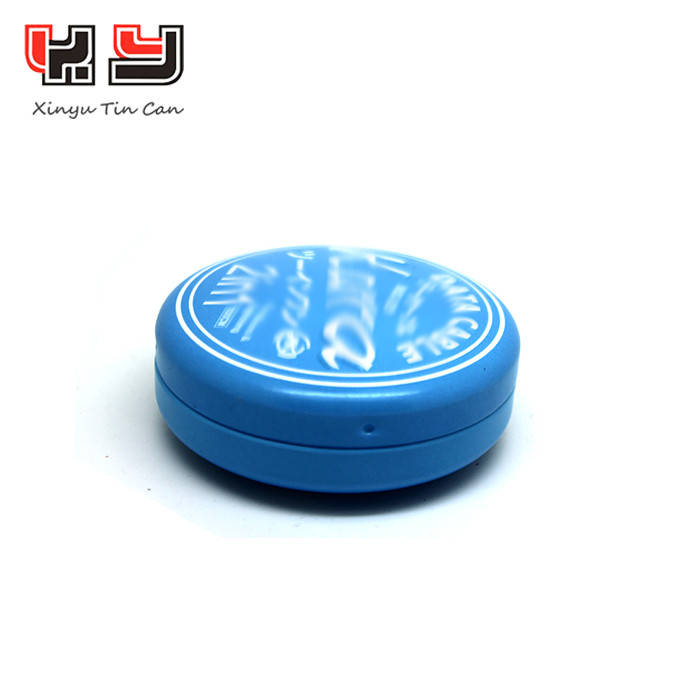 Pocketable Small Round Tin Box For USB Flash Drive