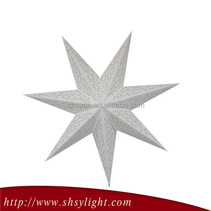 new arrive display hanging paper star