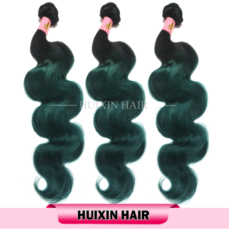 Large stock cheap ombre human hair weaves wholesale malaysian colored two tone hair weave