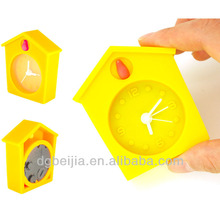 New Year Gift Home decoration desk silicone promotional alarm clock