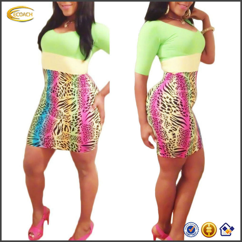 OEM wholesale mini hip package half sleeve Cocktail african print big ass in evening dress photos patterns