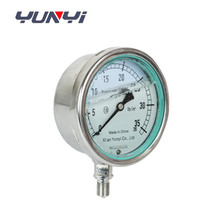 glycerine or silicone oil filled pressure gauge