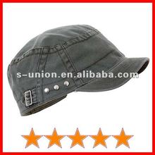 Fashion plain cadet cap with stud and buckle (SU-GH0018)