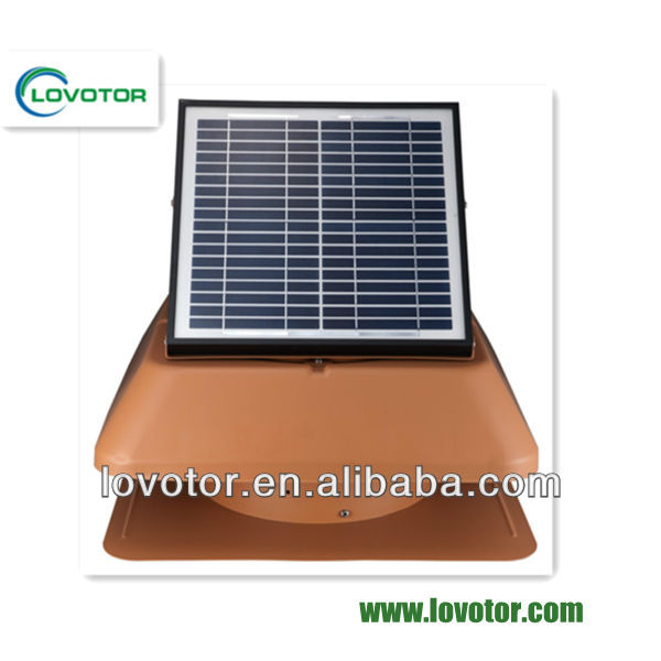 Best quality Orange color 1150CFM solar powered small outdoor exhaust solar fan