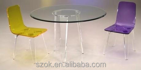 Beautiful Funny Clear Plastic Dining Table And Chair From China