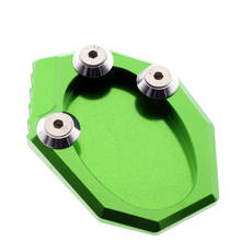 Beautiful green color VERSYS 650 KLX250 CNC sidestand runmei names of motorcycle parts