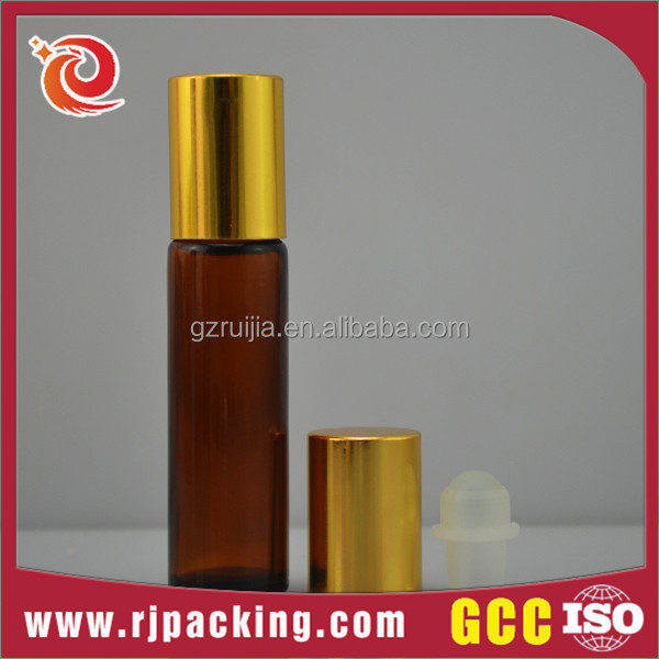 10ml round frosted roll on glass bottle with roller ball wholesale