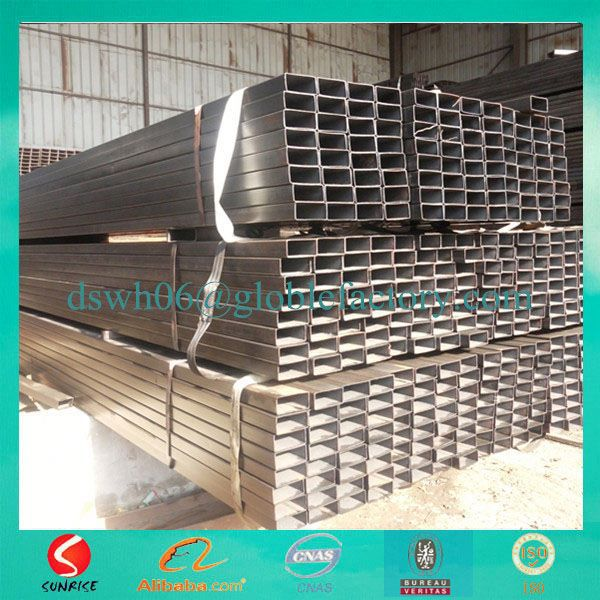 Big size thick wall 50*100 hr q235 tubular for construction material