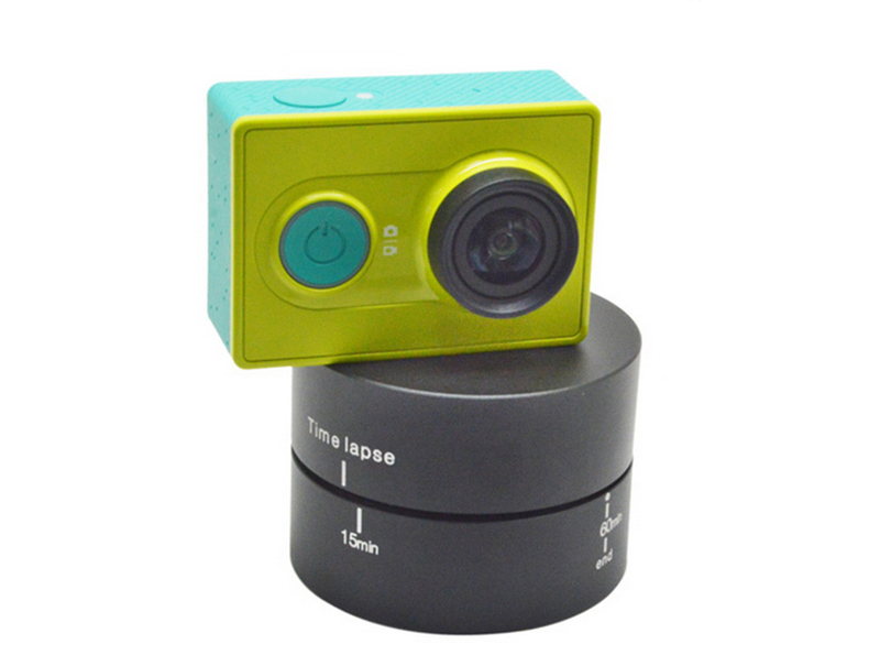 360 Degrees Rotating 60min PanningTime Lapse Stabilizer Tripod for GoPros Heros Camera SJ4000 XIaomi yi GP289A