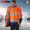warm two - piece safety reflective men winter coat