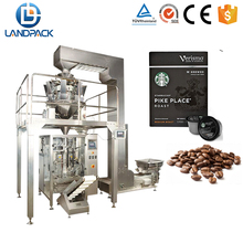 Coffee Pod / Bean / Candy / Sugar Packing Machine With Back Sealing