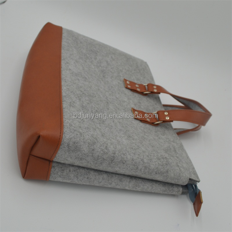 High quality customized handmade felt storage bags felt bag organizer