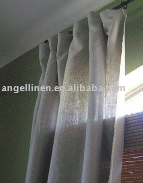 high quality pure linen curtain in natural color,breathable,washable
