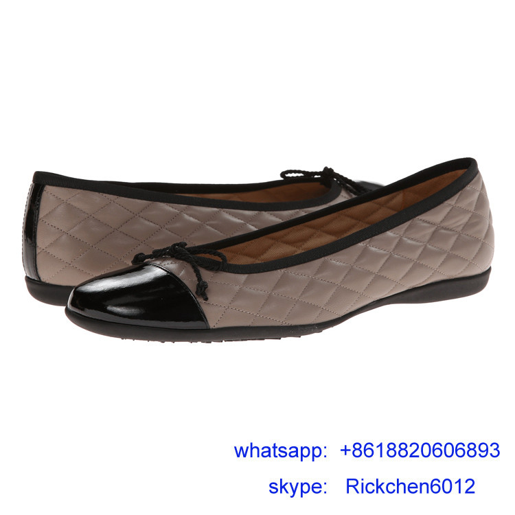 steel rond toe women classic flat shoe
