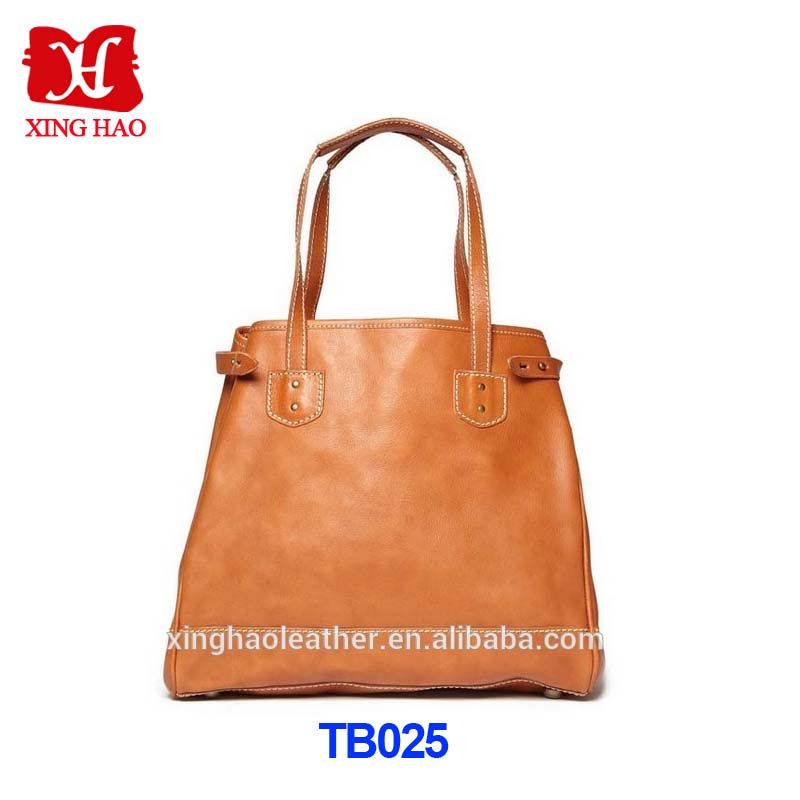 OEM Fashion Style Men's Leather Tote Bag With Customized Logo
