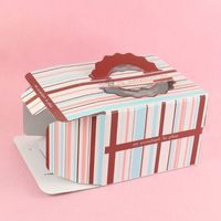 Paper cardboard birthday corrugated cake boxes